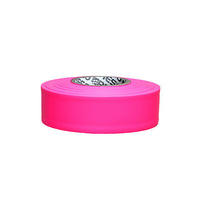Presco PresGlo Taffeta Roll Flagging Tape: 1-3/16 in. x 50 yds. (Neon Pink)