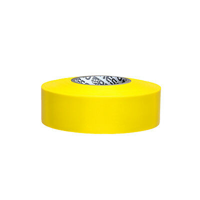 Presco PresGlo Taffeta Roll Flagging Tape: 1-3/16 in. x 50 yds. (Neon Yellow)