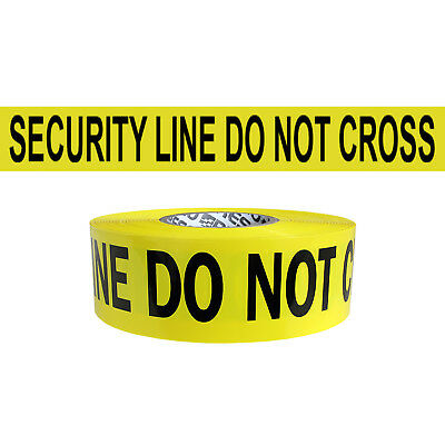 Presco Premium Printed Barricade Tape: 3 in. x 1000 ft. Yellow/Black SECURITY LI