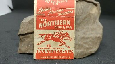 LAS VEGAS The NORTHERN CLUB & BAR Casino Fremont St matchbook match cover Poker