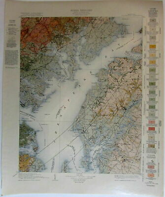Chesapeake Bay Tolchester Maryland 1915 Centerville US topo geological chart