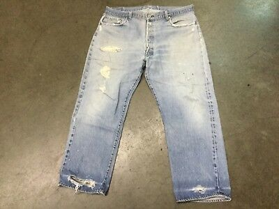 Vintage Levi's 501 Red Tab Redline Selvage Men's Blue Denim Jeans 44/27, Sale #6