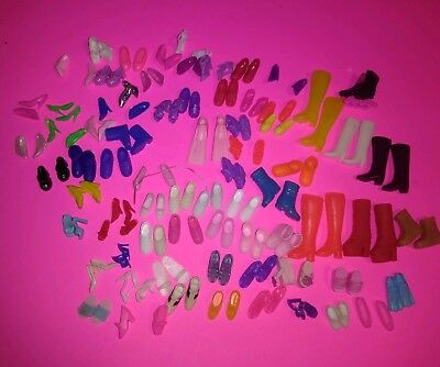 Big Lot of Barbie Doll Shoes-72 Pairs