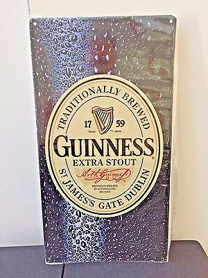 MINT!NEW! GUINNESS HARP EXTRA STOUT Metal Beer Sign!