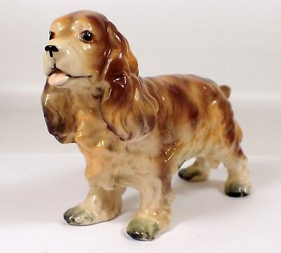 Vtg MIYAKO'S CDGC Japan Ceramic Porcelain ENGLISH COCKER SPANIEL Dog Figurine
