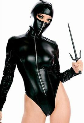 WETLOOK CATSUIT / latex lack leder domina dress gothic bondage bdsm kleid dress