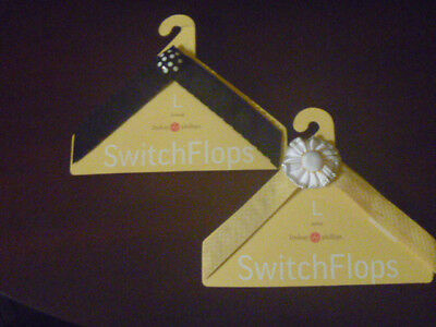 NEW - LOT of 2 - LINDSAY PHILLIPS - SWITCH FLOPS STRAPS - SZ LG - DONNA & ANNA