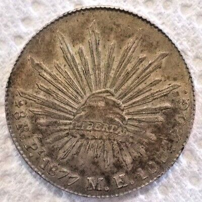 1877 Pi MH Mexico FIRST REPUBLIC 8 Reales KM# 377.12 .903 Silver Coin