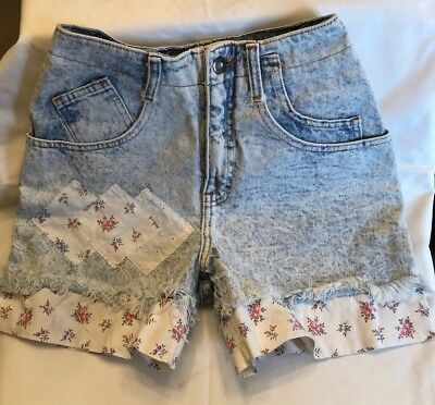 Maximum Energy Vintage 80's High Waisted Womens Size 3-4 Acid Wash Shorts
