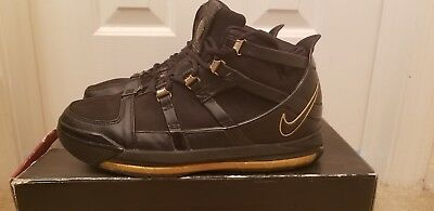3dd8661dab5d 2006 NIKE AIR Zoom Lebron 3 BLACK METALLIC GOLD 312147 006 -  100.00 ...