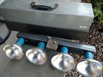 Vintage Smith-Victor Model L 50 Light Bar with Case - 4 Blub 1200 Watt