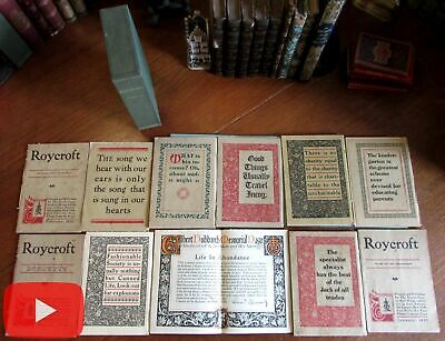 Roycroft Magazine Elbert Hubbard 1920-1921 run 12 issues Arts & Crafts style