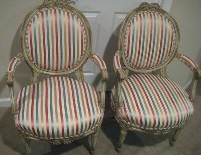Pair of French Provincial Armchairs by Baker Furniture