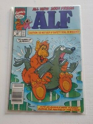 Alf Comic 48 Recalled Seal Cover RARE Marvel Comics  Dec #48 1991 Banned - Used