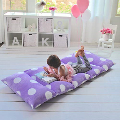 Butterfly Craze Girl's Floor Lounger Seats Cover and Pillow Cover Made of Super