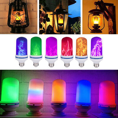 NEW LED Flicker Flame Light Bulb Simulated Burn Fire Effect Festival Party Decor