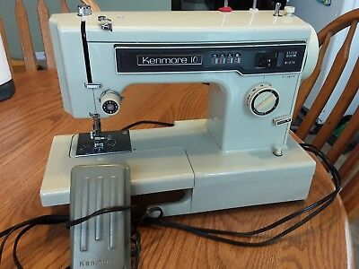 Vintage SEARS KENMORE 10 STITCH Sewing Machine heavy duty made in Japan