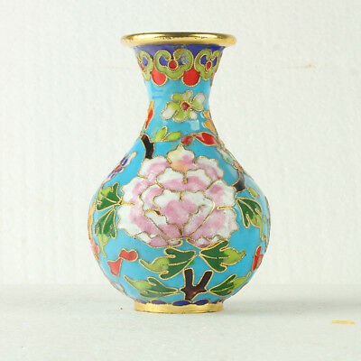 Chinese Cloisonne Hand-painted  Floral Patterns Vase JTL1064+a