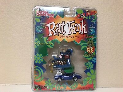 Ed Big Daddy Roth Rat Fink Die Cast with Figure Chevy Blue Racing Champions