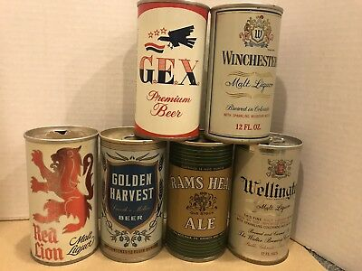 Nice 6 Pack Bottom opened 1970's  TABTOP Beer Cans