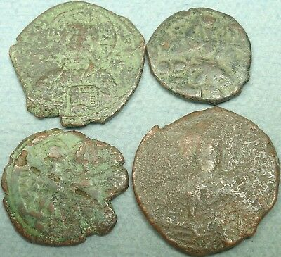 Lot Of 4 Byzantine Bronze Coins