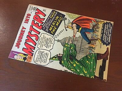 Journey into Mystery #96 - BEAUTIFUL - Merlin the Mad - Thor - Marvel 1963