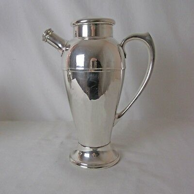 International Silver Plated Cocktail Shaker Excellent Estate Condition