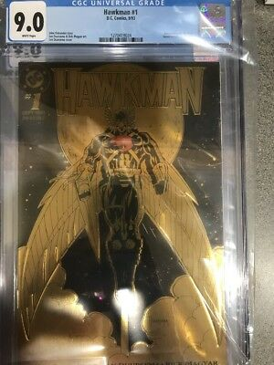 HAWKMAN #1 1993 CGC  9.0 Embossed Gold Cover