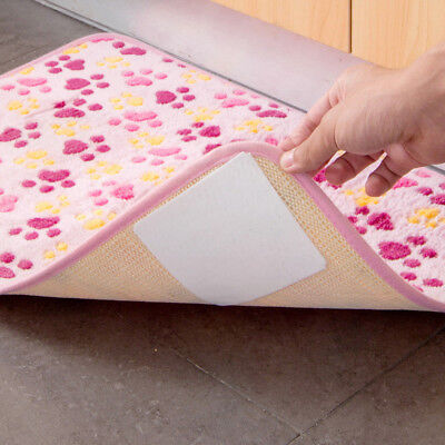 4 X Carpet Non-woven Pad Double-sided adhesive Sticker Anti Slip Mat Pads Anti