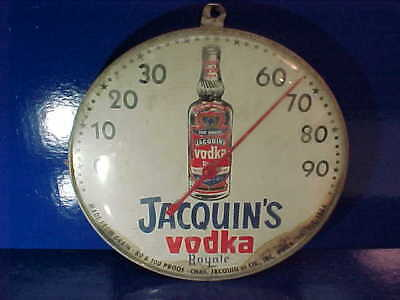 1960s JACQUINS VODKA ROYALE Advertising Wall THERMOMETER Works