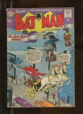 Batman 161 FN 5.5 *1 Book* 1963 DC Comics! Mad Hatter! Bat-Mite! Robin! Moldoff!