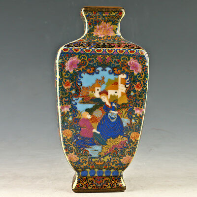 Chinese Enamel Porcelain Hand Painted Vase Made During The Yongzheng Period GL