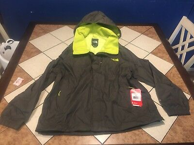 3c39d269f THE NORTH FACE MENS Olive/Green/Lime RESOLVE JACKET SIZE XL New W/Tags Msrp  $90