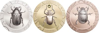2017 $5 Cook Islands Scarab Selection 3 3-Coin Silver Proof Set