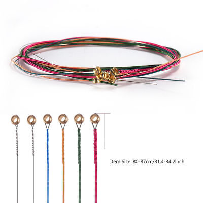 Guitar Strings 6 pcs/Set Colorful Steel Strings Durable Replacement Acoustic