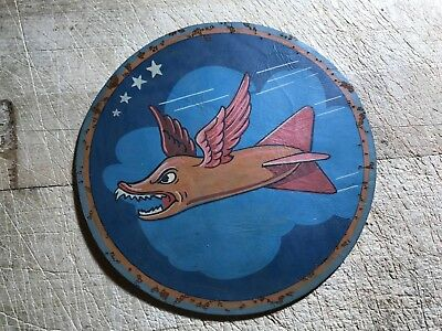 WWII/WW2 US ARMY AIR FORCE PATCH-337th Bombardment Squadron-ORIGINAL LEATHER!