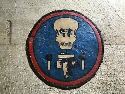 WWII/WW2 US ARMY AIR FORCE PATCH-97th Tactical Recon Squadron-ORIGINAL Leather!