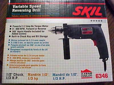 Skil Drill Variable Speed Reversing 3.2 Amp 1/2 Chuck NEW IN BOX Unopened USA