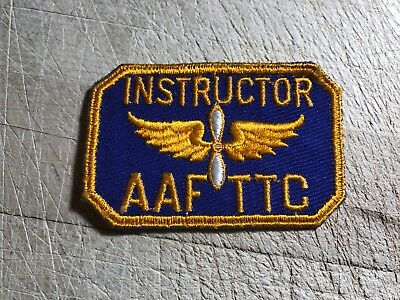 WWII/WW2/Post? US ARMY AIR FORCE PATCH-AAFTTC INSTRUCTOR-ORIGINAL BEAUTY!