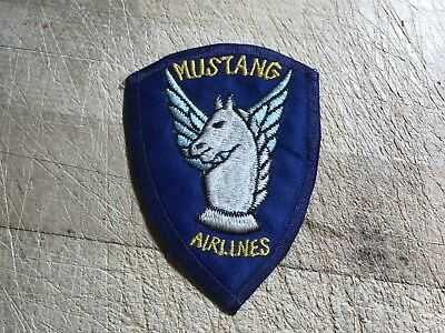 """Cold War/Vietnam? US ARMY PATCH-""""Mustang Airlines"""" 2nd Aviation ORIGINAL BEAUTY!"""