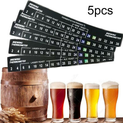 LCD Thermometer Stick-On Temperature Strip Self Adhesive Homebrew Beer & Wine T1