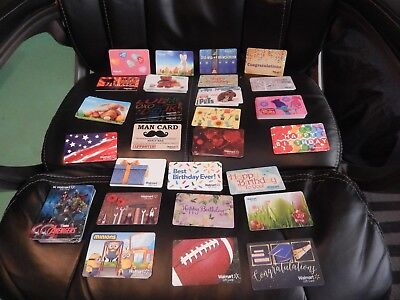Assorted Lot of 12 Wal-Mart Gift Cards ~~ FUN  Collectibles **NO VALUE!**