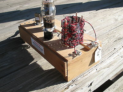 PASTIME PROJECTS vintage 1940 style 6V6 80/40 M QRP CW code Transmitter kit.