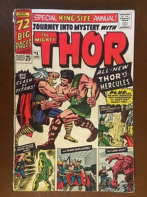 Journey into Mystery Annual #1 - 1st App Hercules - Thor - Marvel 1965