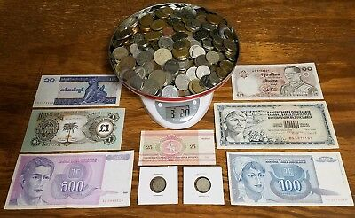 Large Junk Drawer Lot! World Coins & Banknotes - Some Silver -  Free Shipping!#1