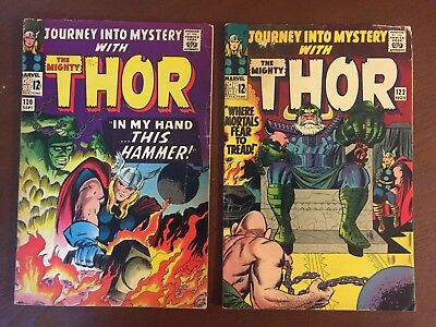 Journey into Mystery Lot (2 Books) #120 & 122 - Thor - Marvel 1965