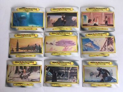 Lot of 9 Star Wars Space Paintings Trading Cards Vintage 1980 Ralph McQuarrie