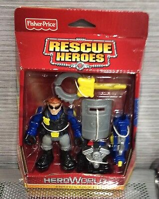 New and Sealed Rescue Heroes Night Patrol Fisher-Price Captain Cuffs Figure