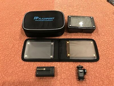 Flashpoint 126 LED - Bi Color On Camera fill light with Sony NP-F550 battery