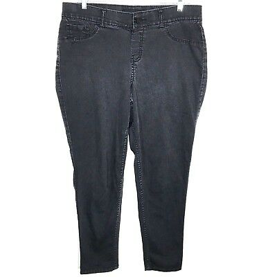 Venezia Womens Size 16 Regular Black Stretch Jeans Straight Leg Actual 35 x 29